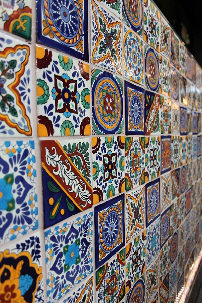 Handbemalte mexikanische fliesen patchwork - Fliesen patchwork ...
